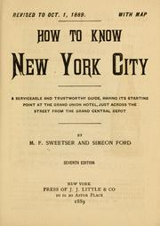 Cover of: How to know New York city ... | Moses Foster Sweetser