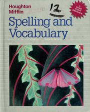 Cover of: Houghton Mifflin spelling and vocabulary | Edmund H. Henderson