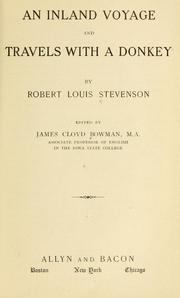 Cover of: An  inland voyage, and Travels with a donkey | Robert Louis Stevenson