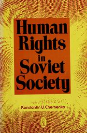 Cover of: Human rights in Soviet society