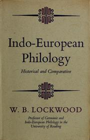 Cover of: Indo-European philology | W. B. Lockwood