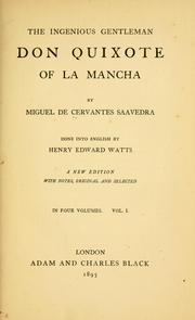 Cover of: The ingenious gentleman Don Quixote of La Mancha | Miguel de Cervantes Saavedra