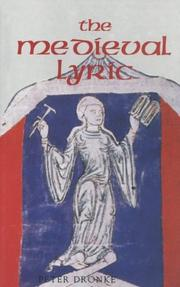 Cover of: The medieval lyric | Dronke, Peter.