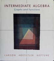 Cover of: Intermediate algebra | Ron Larson