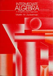 Cover of: Intermediate algebra | Martin M. Zuckerman