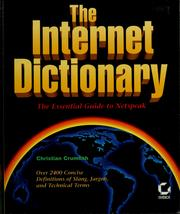 Cover of: The Internet dictionary | Christian Crumlish