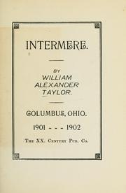 Cover of: Intermere | William Alexander Taylor