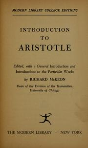 Cover of: Introduction to Aristotle | Aristotle
