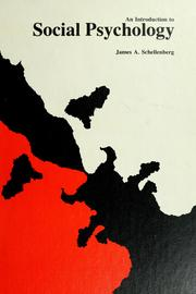 Cover of: An introduction to social psychology | James A. Schellenberg
