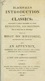 Cover of: Introduction to the classics | Anthony Blackwall