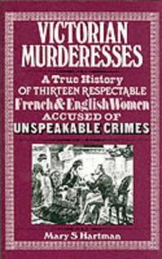 Cover of: Victorian Murderesses
