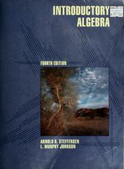 Cover of: Introductory algebra | Steffensen, Arnold R.
