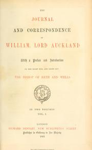 Cover of: The journal and correspondence of William, lord of Auckland