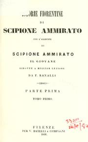 Cover of: Istorie Fiorentine by Scipione Ammirato