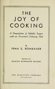 Cover of: The joy of cooking by Irma S. Rombauer