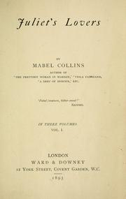 Cover of: Juliet's lovers by Mabel Collins