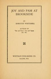 Cover of: Joy and Pam at Brookside | Dorothy Whitehill