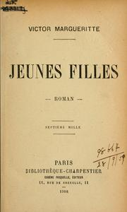 Cover of: Jeunes filles by Victor Margueritte
