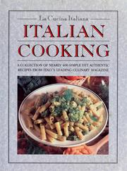 Cover of: Italian cooking |