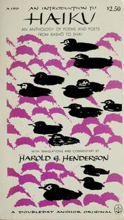 An introduction to haiku by Harold Gould Henderson