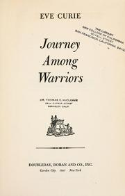 Cover of: Journey among warriors