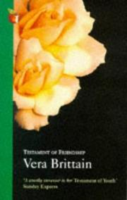 Cover of: Testament of friendship