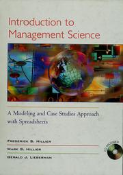introduction to management science hillier pdf