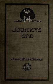 Cover of: Journeys end | Justus Miles Forman