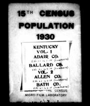 Cover of: 15th census, population, 1930. |