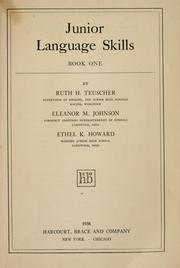 Cover of: Junior language skills | Ruth H. Teuscher