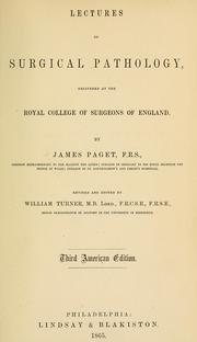 Lectures on surgical pathology by Paget, James Sir