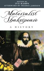 Cover of: Materialist Shakespeare