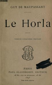 Le Horla by Guy de Maupassant