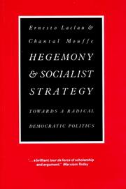 Cover of: Hegemony and socialist strategy