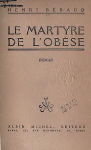 Cover of: Le martyre de l'obese