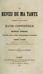 Cover of: Le neveu de ma tante by Charles Dickens