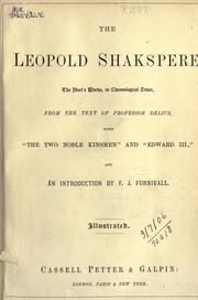 The Leopold Shakspere by William Shakespeare
