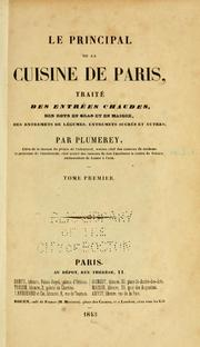 Le principal de la cuisine de Paris