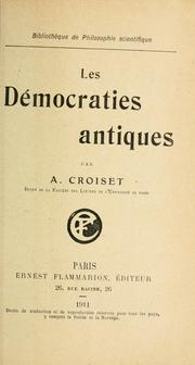 Cover of: Les démocraties antiques