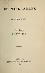 Cover of: Les misérables | Victor Hugo