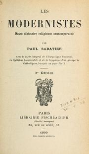 Les modernistes by Sabatier, Paul