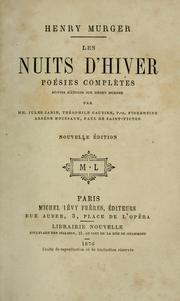 Cover of: Les nuits d'hiver