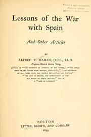 Cover of: Lessons of the War with Spain: And Other Articles by Alfred Thayer Mahan