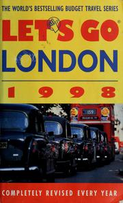 Cover of: Let's go: London 1998 | Nicholas A. Stoller, David J Eilenber editor.