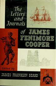 Cover of: Letters and journals by James Fenimore Cooper