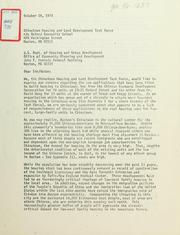 Letter to U.S. dept. Of housing and urban development, office of ...