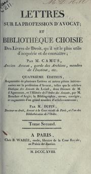 Cover of: Lettres sur la profession d'avocat