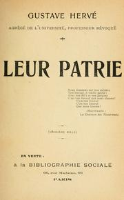 Cover of: Leur patrie