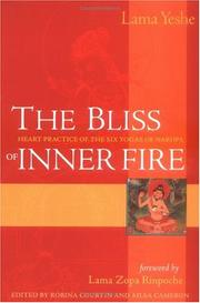 Cover of: The bliss of inner fire by Thubten Yeshe