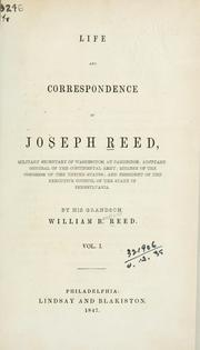 Cover of: Life and correspondence of Joseph Rees. | William Bradford Reed